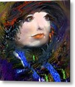 Portrait Of A Woman From A Long Time Ago Metal Print by Doris Wood