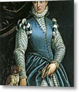 Portrait Of A Woman With A Dog Metal Print