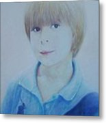 Portrait Of A Young Boy Metal Print