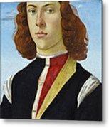 Portrait Of A Young Man Ghirlandaio Metal Print