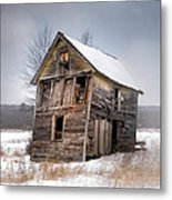Portrait Of An Old Shack - Agriculural Buildings And Barns Metal Print