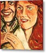 Portrait Of Andrew And Sarah Metal Print