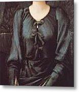 Portrait Of Baronne Madeleine Deslanders Metal Print by Edward Burne-Jones
