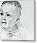 Portrait Of Ben Pencil Drawing Metal Print