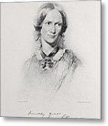 Portrait Of Charlotte Bronte, Engraved Metal Print