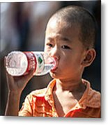 Portrait Of Chinese Child In Xian China Metal Print