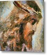 Portrait Of Christ Metal Print