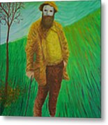 Portrait Of Claude Monet Metal Print
