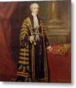 Portrait Of Colonel Sir Samuel Wilson, Lord Mayor Of London, 1838 Oil On Canvas Metal Print