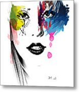 Portrait Of Colors   Metal Print by Mark Ashkenazi