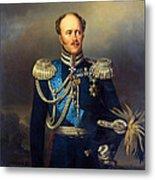 Portrait Of Count Alexander Benkendorff Metal Print