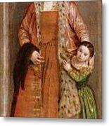Portrait Of Countess Livia Da Porto Thiene And Her Daughter Deidamia Metal Print