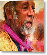 Portrait Of Dr. Luv - Painting Metal Print