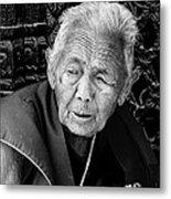 Portrait Of Elderly Woman Metal Print