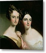 Portrait Of Ellen And Mary Mcilvaine, 1834 Oil On Canvas Metal Print