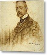 Portrait Of Emile Bertaux Metal Print