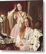 Portrait Of Emma And Frederica Bankes Metal Print
