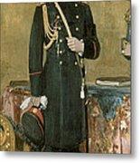Portrait Of Emperor Nicholas II 1868-1918 1895 Oil On Canvas Metal Print