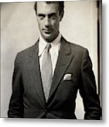 Portrait Of Gary Cooper Wearing A Suit Metal Print