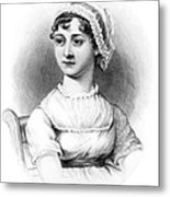 Portrait Of Jane Austen Metal Print by English School
