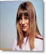 Portrait Of Jane Birkin Metal Print