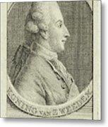 Portrait Of King Gustav IIi Of Sweden, Cornelis Van Noorde Metal Print
