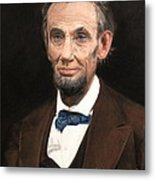 Portrait Of Lincoln Metal Print