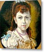 Portrait Of Little Girl Metal Print