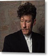 Portrait Of Lyle Lovett Metal Print