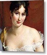 Portrait Of Madame Recamier  Metal Print