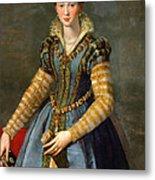 Portrait Of Maria De Medici Or Eleonora Di Garzia Di Toledo Metal Print
