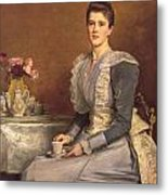 Portrait Of Mary Chamberlain Metal Print