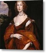 Portrait Of Mary Hill Metal Print