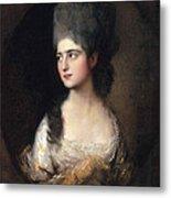 Portrait Of Miss Elizabeth Linley  Later Mrs Richard Brinsley Sheridan Metal Print