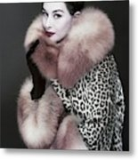 Portrait Of Nancy Berg Metal Print