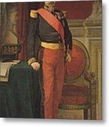Portrait Of Napoleon IIi 1808-73 1862 Oil On Canvas Metal Print