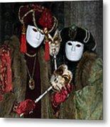 Venetian Carnival - Portrait Of Nobles Metal Print