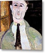 Portrait Of Paul Guillaume Metal Print