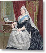 Portrait Of Queen Victoria Metal Print