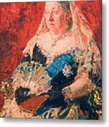 Portrait Of Queen Victoria Metal Print