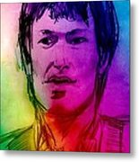 Rainbow Portrait Of Stevie Winwood Metal Print