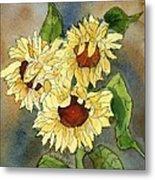 Portrait Of Sunflowers Metal Print