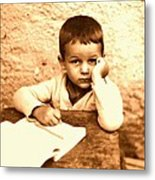 Portrait of the Artist as a Young Boy Metal Print
