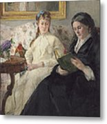 Portrait Of The Artist S Mother And Sister Metal Print