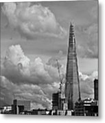 Portrait Of The Shard Black And White Version Metal Print