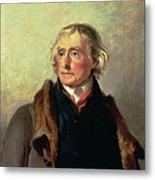Portrait Of Thomas Jefferson Metal Print