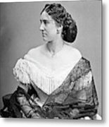 Portrait Woman, C1865 Metal Print