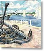 Portside Anchor Metal Print by Paul Brent