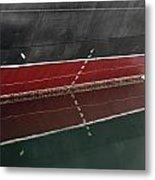 Portside Stern Water Line Queen Mary Ocean Liner Long Beach Ca Metal Print