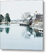 Portsmouth In Winter Metal Print